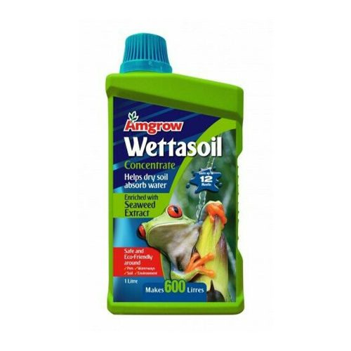 Amgrow Wettasoil with Seaweed Concentrate is an easy to use soil wetter in an economical concentrated form. Treatment for water repellent soil. Helps dry soil absorb water.