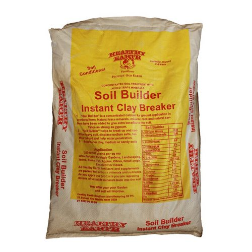 With added soil wetter, seaweed, nitrogen and trace elements. Healthy Earth Instant Clay Breaker helps break up clay and also aids the easy penetration and absorption of water on water resistant, heavy or sandy soils.