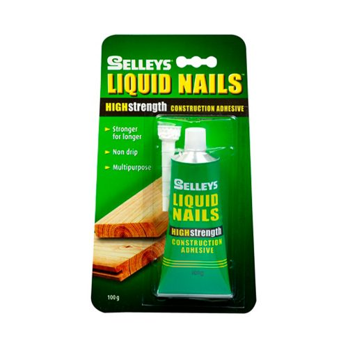 Selleys Liquid Nails Original is a high strength multipurpose construction adhesive that forms a strong and lasting bond on most building substrates.