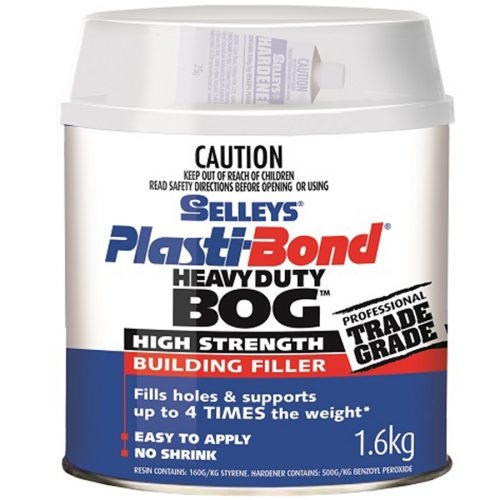 Selleys PlastiBond Heavy Duty is a multi-purpose plastic putty that can be used for building or repair work where filling, bonding or moulding is necessary. It sets in 20 minutes without shrinkage, after the hardener is mixed in.
