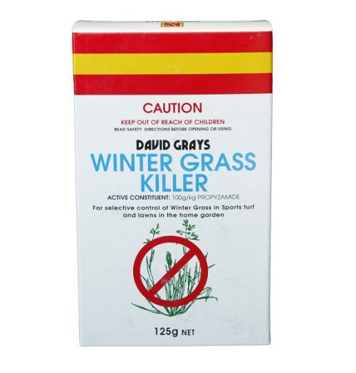 David Grays Winter Grass Killer is a selective pre and post-emergent weedkiller to control Winter Grass in common Couch and Buffalo lawns.