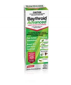 Yates Baythroid controls a wide range of insect pests in ornamental plants and vegetables in the home garden
