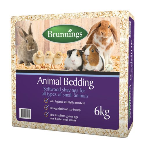 Brunnings Animal Bedding is made from 100% pure, thin curl pine shavings, making it clean, natural pure and hygienic for your animal enclosures. It is 100% bio-degradable and compostable and screened and dust extracted before packaging. These wood shavings are compression packed, highly absorbent and great for controlling odour. Biodegradable and eco-friendly Safe, hygienic and highly absorbent Ideal for rabbits, guinea pigs, mice and other small animals