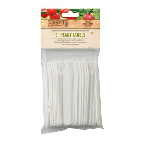 The Gardman Plant Labels are ideal for use in the garden, greenhouse, pots and trays for easy identification of your flowers and plants. Pack of 50 plant labels & pencil Rot proof Holed labels for tagging or planning