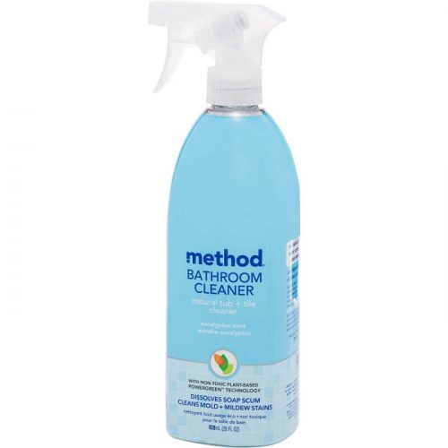 scrub a dub, dub with method bathroom cleaner in the tub! The Method Bathroom Cleaner features plant based Powergreen technology that dissolves soap scum and helps remove mould and mildew stains so you do less scrubbing while achieving a sparkling clean. Perfect for showers, tiles, fixtures, chrome and tubs